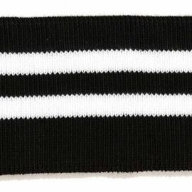 Boord zwart-wit gestreept ca. 65 cm
