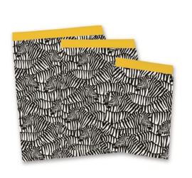 Cadeauzakje 25x34 zebra (5 stuks)