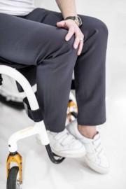 Lesley zipper recht antraciet grijs