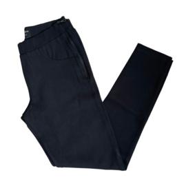 Jadey zipper skinny zwart