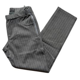 billy zipper grijs streep