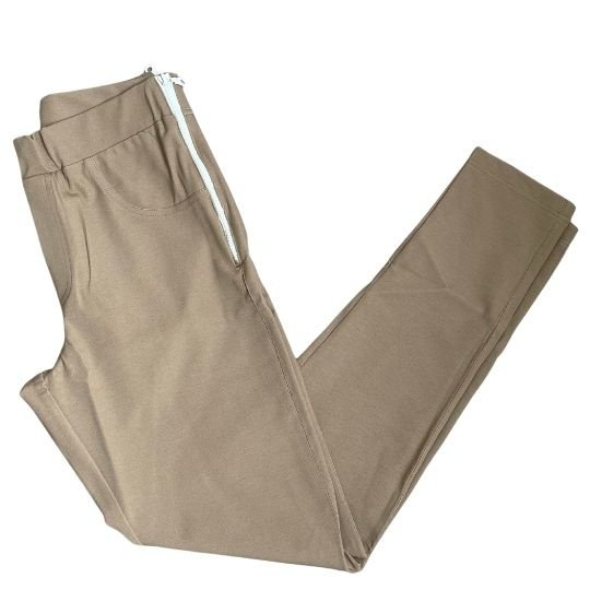 lesley zipper skinny zand