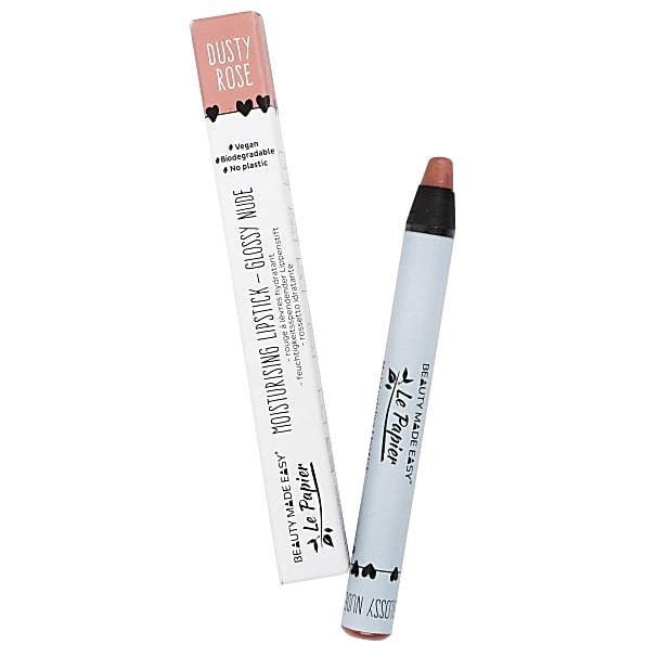 Le Papier lipstick-Glossy Nude Dusty Rose