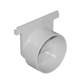 PVC Eindplaat met aansluiting ø 75/80 mm