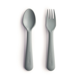 Mushie Fork & Spoon Sage
