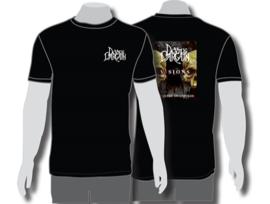 T shirt Men Black  / front Logo / back Visions