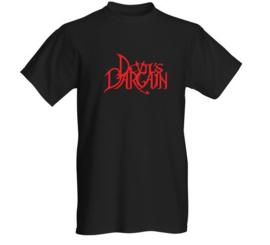 T shirt Men Black  /Logo Red