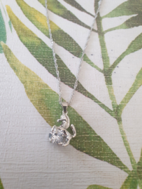 Ketting 'Sparkle horse' (Zilver)