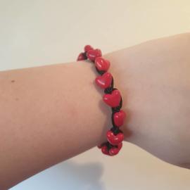 Armband 'Hartjes'