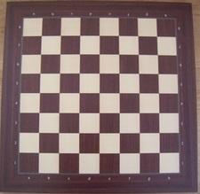 Klassiek staunton schaakstukken op Zurich 55 bord met cijfers en letters
