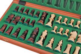 Staunton 4 in luxe doos uitklapbaar tot schaakbord