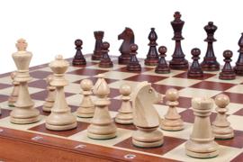 Staunton 6 in luxe doos uitklapbaar tot schaakbord
