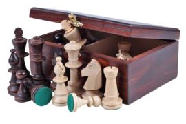 Staunton 5 schaakstukken in houten doos