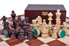 Staunton 6 schaakstukken houten kistje
