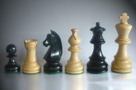 Klassiek staunton zwart met Franse Loper 76 mm