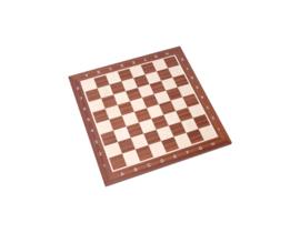 Klassiek staunton schaakstukken zwart-wit 96 mm met een Londen 58 schaakbord