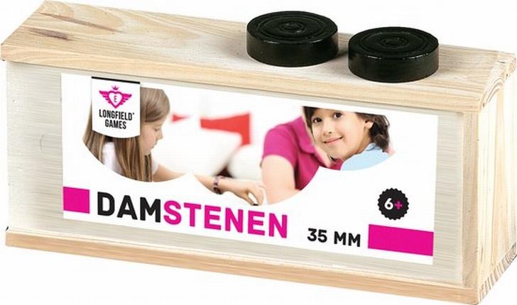 Damstenen in houten kistje 35 mm