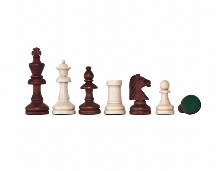 Staunton 4 schaakstukken in houten doos