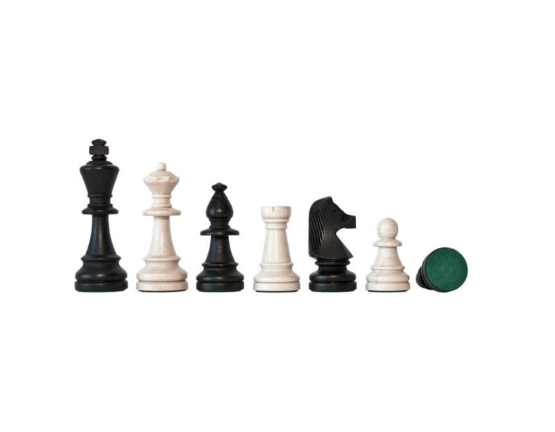 Zwart Blanke Staunton 6 schaakstukken in houten kistje