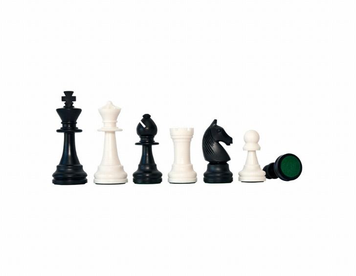 Kunststof toernooischaakstukken staunton 6