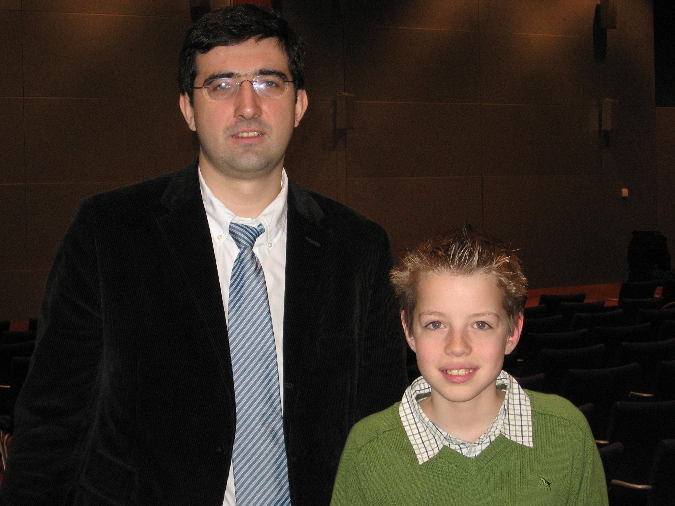 Brian met Vladimir Kramnik
