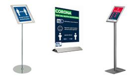 Corona displays BINNEN