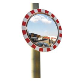 Ronde spiegel op staander - buiten