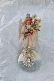 Oude kerstengel antieke kerst versiering