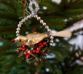 Kerst vogeltje goud