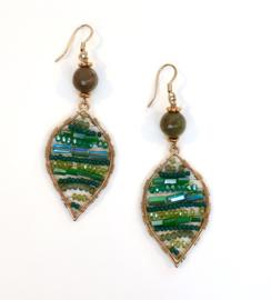 Jade oorbellen groen