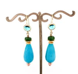 Oorbellen Turquoise