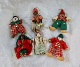 antieke kerstpopjes  oude kerst versiering