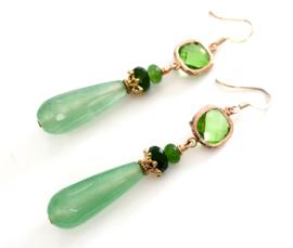 Oorbellen Emerald groen