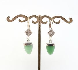 Zilveren gemstone oorbellen