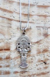 925 zilver ketting met zilveren Tumi hanger