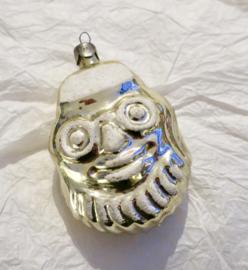 Oude antieke kerstbal kerstman Russische kerstbal