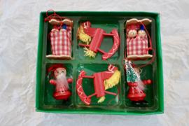 Vintage retro kerst figuren