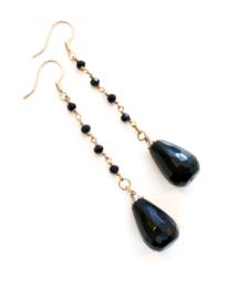 Oorbellen Zwarte Jade