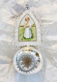 Oude kerstbal deuk bal reflextor bal ornament religieus