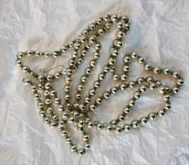 Antieke kerstslinger glas zilver