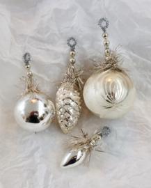 Antieke oude kerstballen set