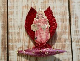 Victoriaanse kerst engel op zeppelin