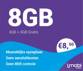 Sim only 8 GB