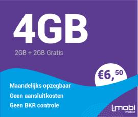 Sim only 4 GB