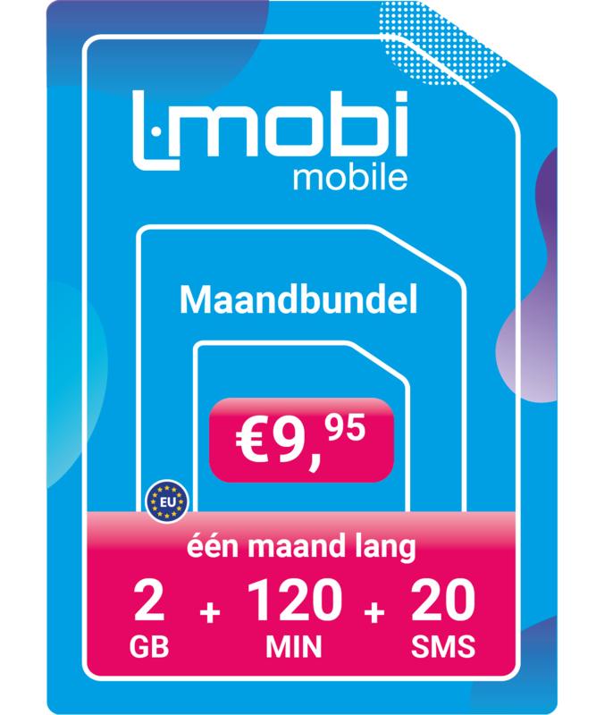 L-mobi Maandbundel  2GB, 120 min, 20 sms