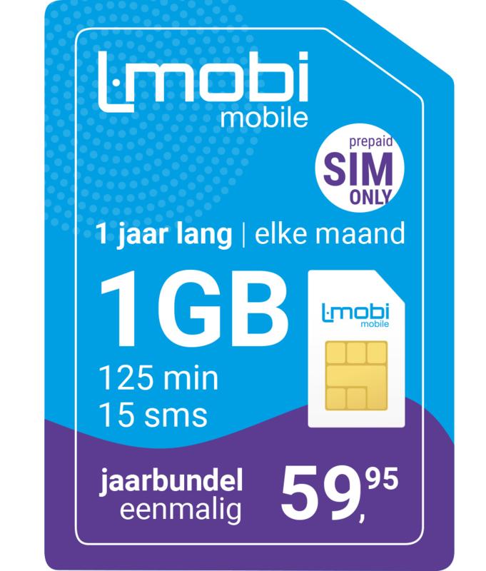 L-mobi Jaarbundel  1GB, 125 min, 15 sms