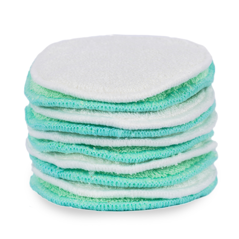 10 herbruikbare en wasbare make-up remover pads