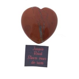 Edelsteenhart 4cm jaspis rood