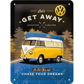 Tin Sign 15 x 20 VW Bulli / Lets Get Away Night