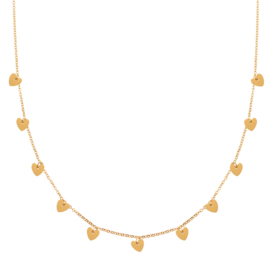 Ketting a lot of hearts goud (WEB)